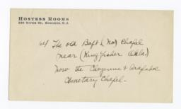 Envelope for Photo (1275) and Negative (1276) of Baptist Chapel near Kingfisher, Oklahoma