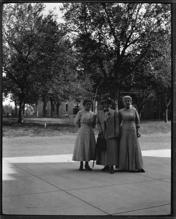 Three Women Posing for the Camera
