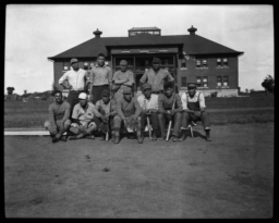 Group Portraits of a Baseball Team, Haskell Institute, Lawrence, Kansas