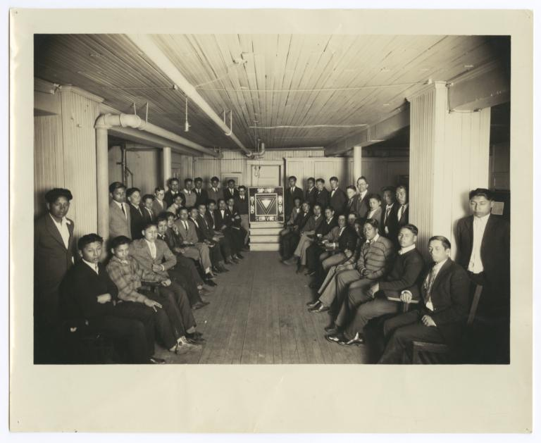 Group of Haskell Institute Students, Lawrence, Kansas