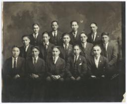 Group of Young Men Posing for a Portrait, Lawrence, Kansas