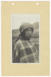 Salish Man in a Blanket and Cloth Head Wrap