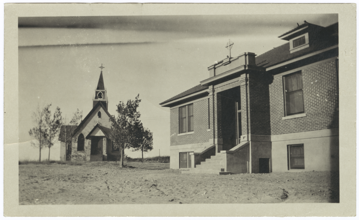Episcopal Church and Indian Mission School, Fort Hall Reservation, Idaho