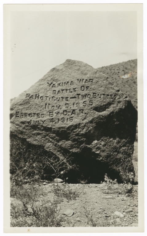 Monument Marking the Yakima War Battle at Two Buttes, November 9, 1855