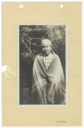 Young Kootenai Indian Woman in Blanket and Headwrap