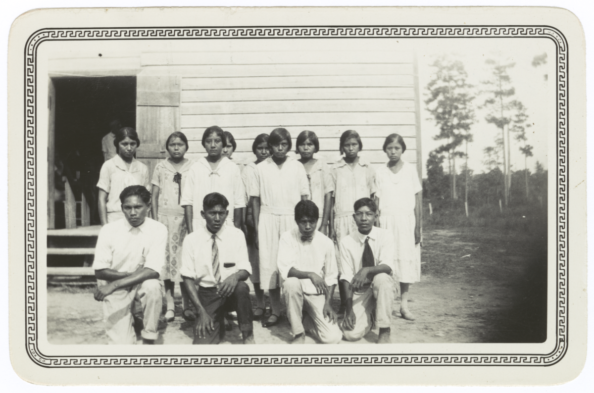 Koasati Youth Attending High School at Elton, Louisiana
