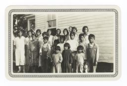 American Indian Boys and Girls at a Day School at Bayou Blue, Louisiana