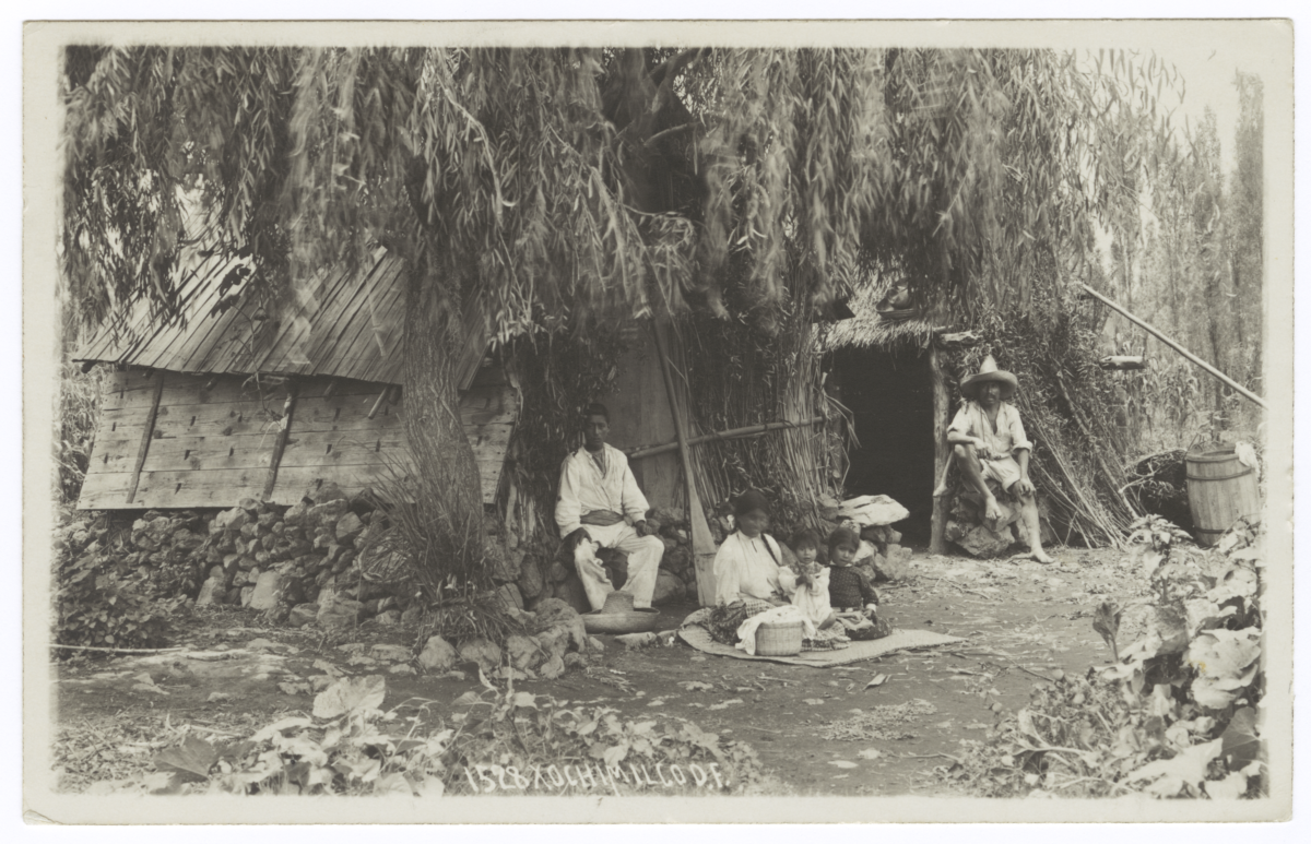Mexican Indians Sitting outside a Shack