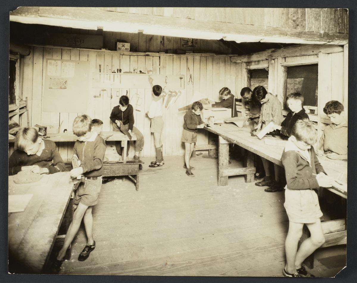 Boys in a Camp Workshop