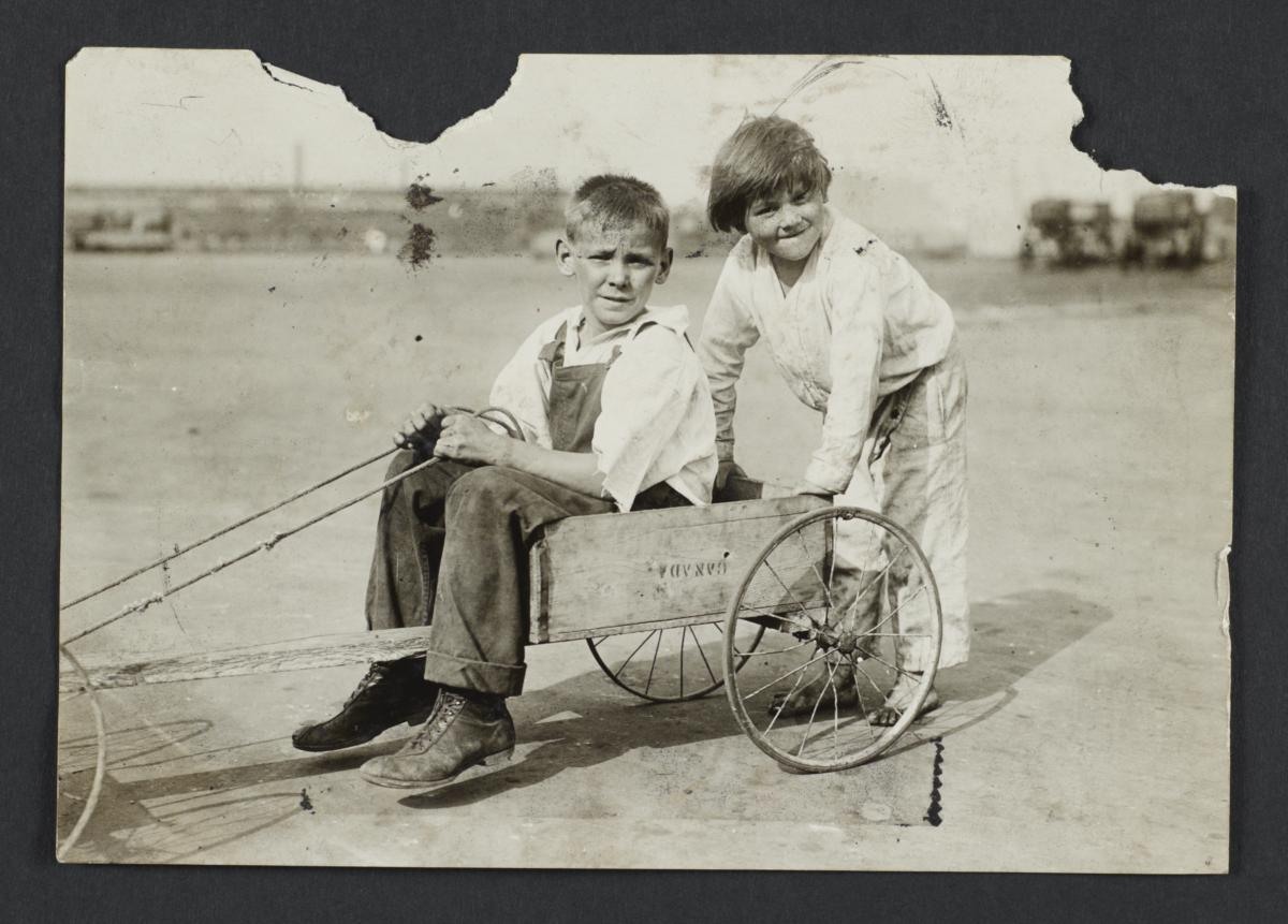 Go-cart with Two Boys