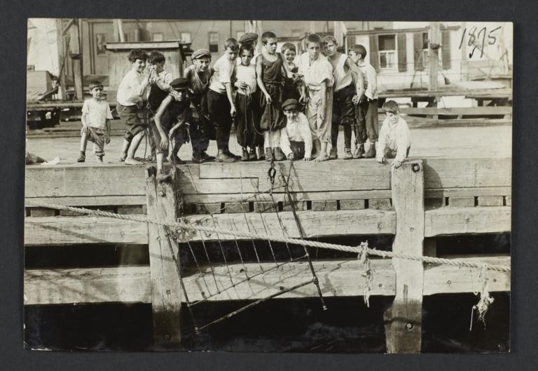 Boys on a Wharf