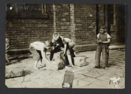 Boys with Paving Stones