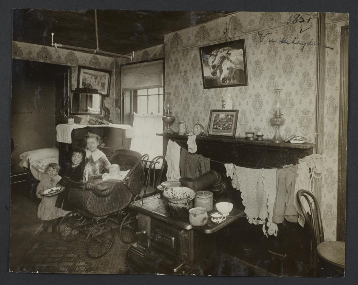 Four Children in a Tenement Room