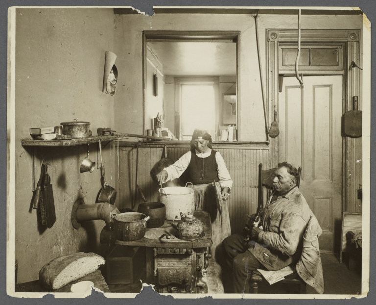 Old Couple, Woman Cooking