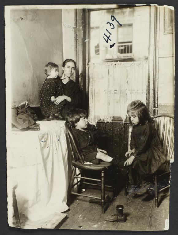 Mother and Three Children by a Window