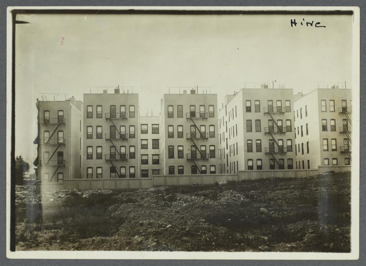 "Rear View of ""New Law"" Tenement Houses"