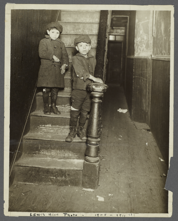 Boys on Tenement Stairs