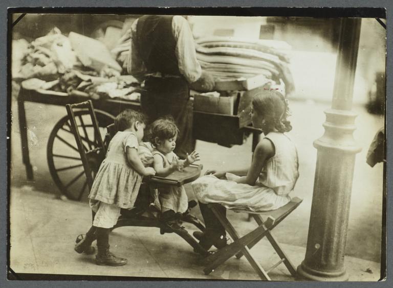 Push-cart and Children