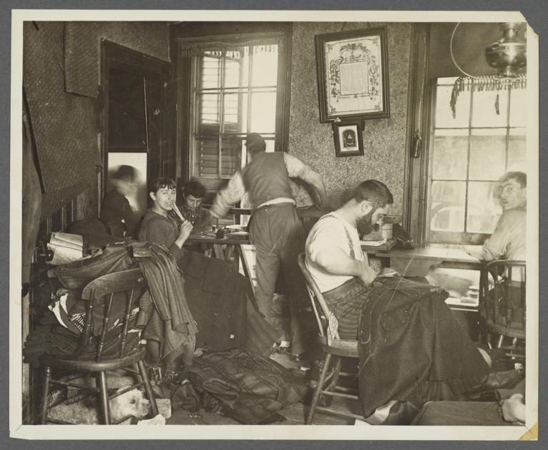 Sweat Shop in a Ludlow Street Tenement