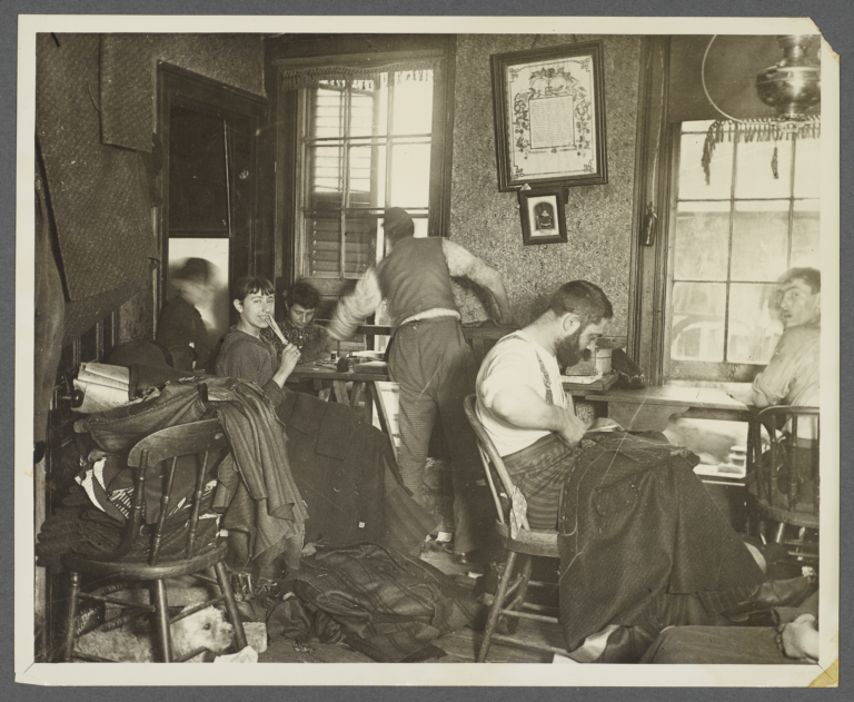 Sweat Shop in a Ludlow Street Tenement