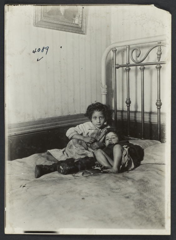Two Children on a Bed