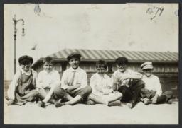 Six Boys on the Sand