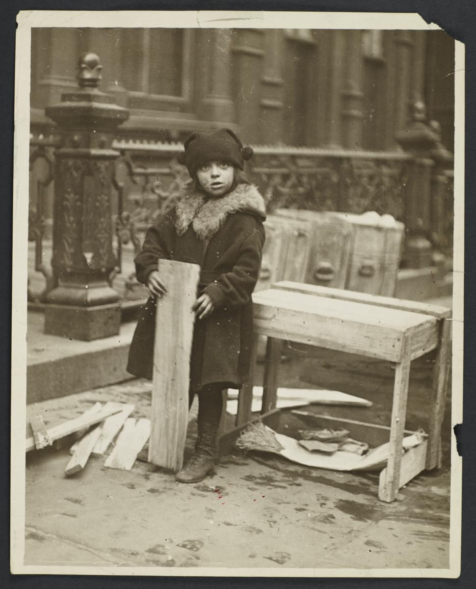 Little Girl With Scrap Wood