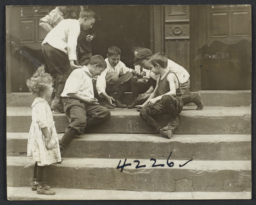 Boys Playing on a Stoop