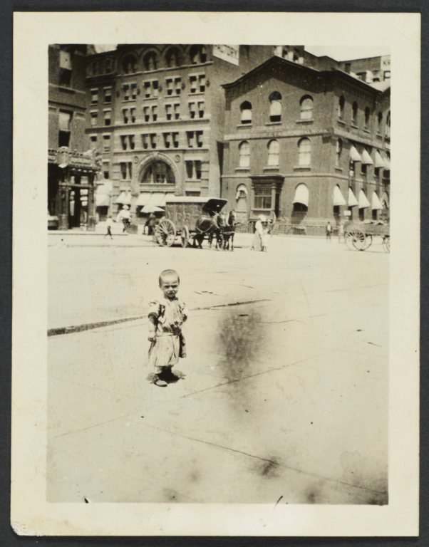 Child in Front of Demilt Dispensary
