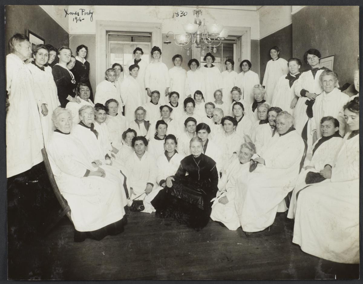 Women's Workrooms Album -- Christmas Party, 1916