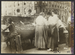 Women and Children around Fruit and Vegetable Stand