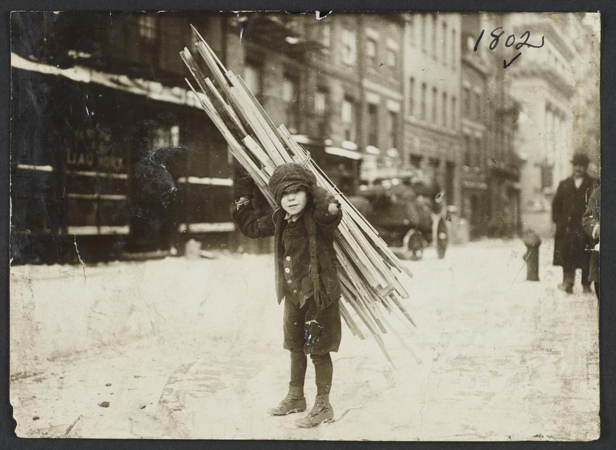 Boy with Bundle of Wood