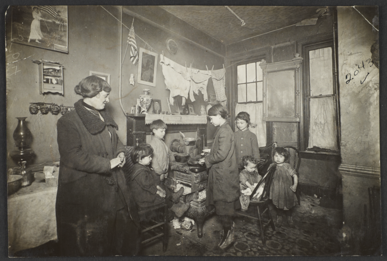 Destitute Mother and Children