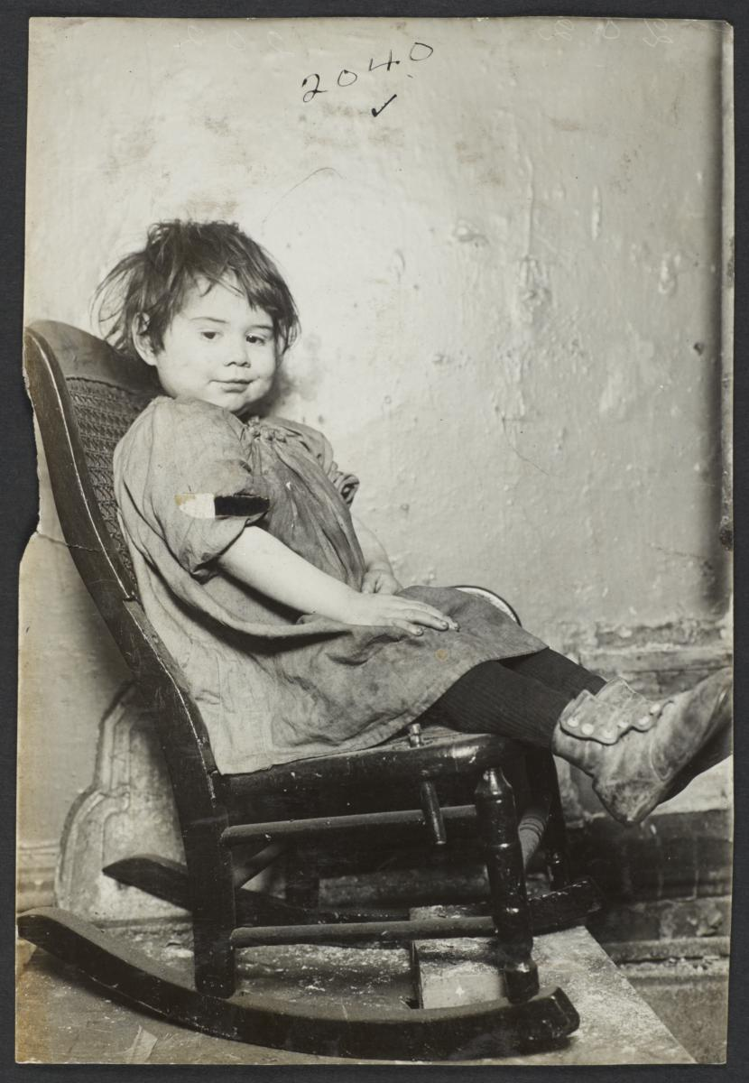 Little Girl in Rocking Chair