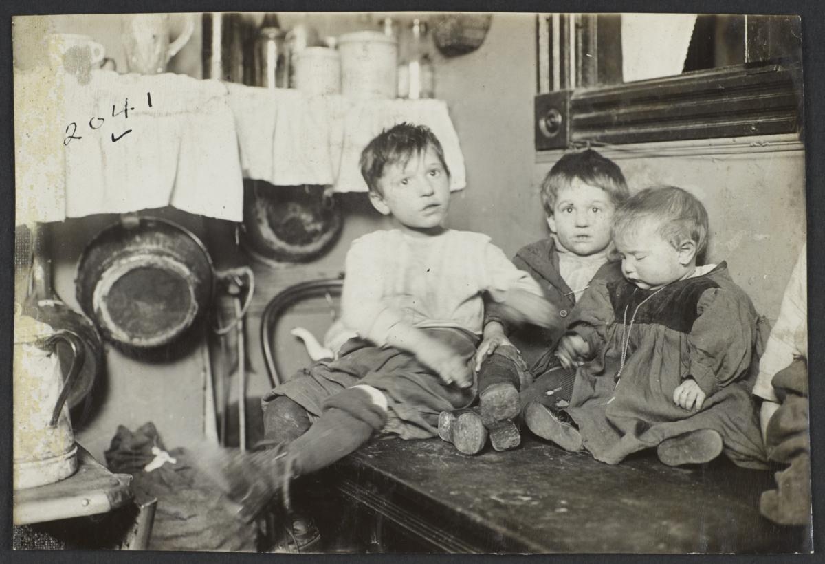 Three Children on Table