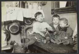 Three Children on Table