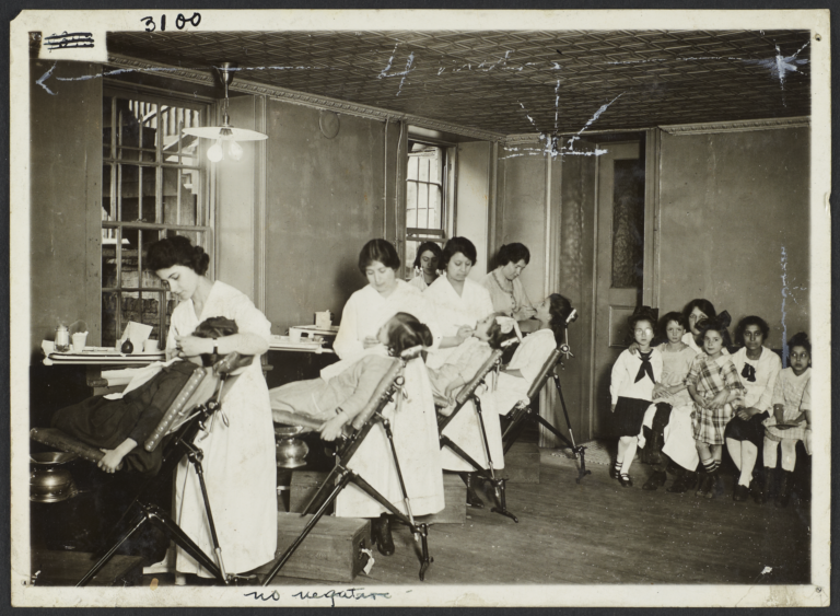Mulberry Health Center Album -- Dental Hygienists with Children