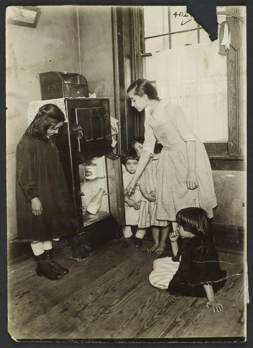 Children Around Icebox