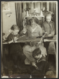 Children with Woman Sewing