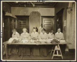 Women's Work Room Album -- Women Sewing
