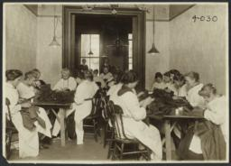 Women's Work Room Album -- Women Sewing in Work Room