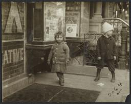 Two Children near Grate