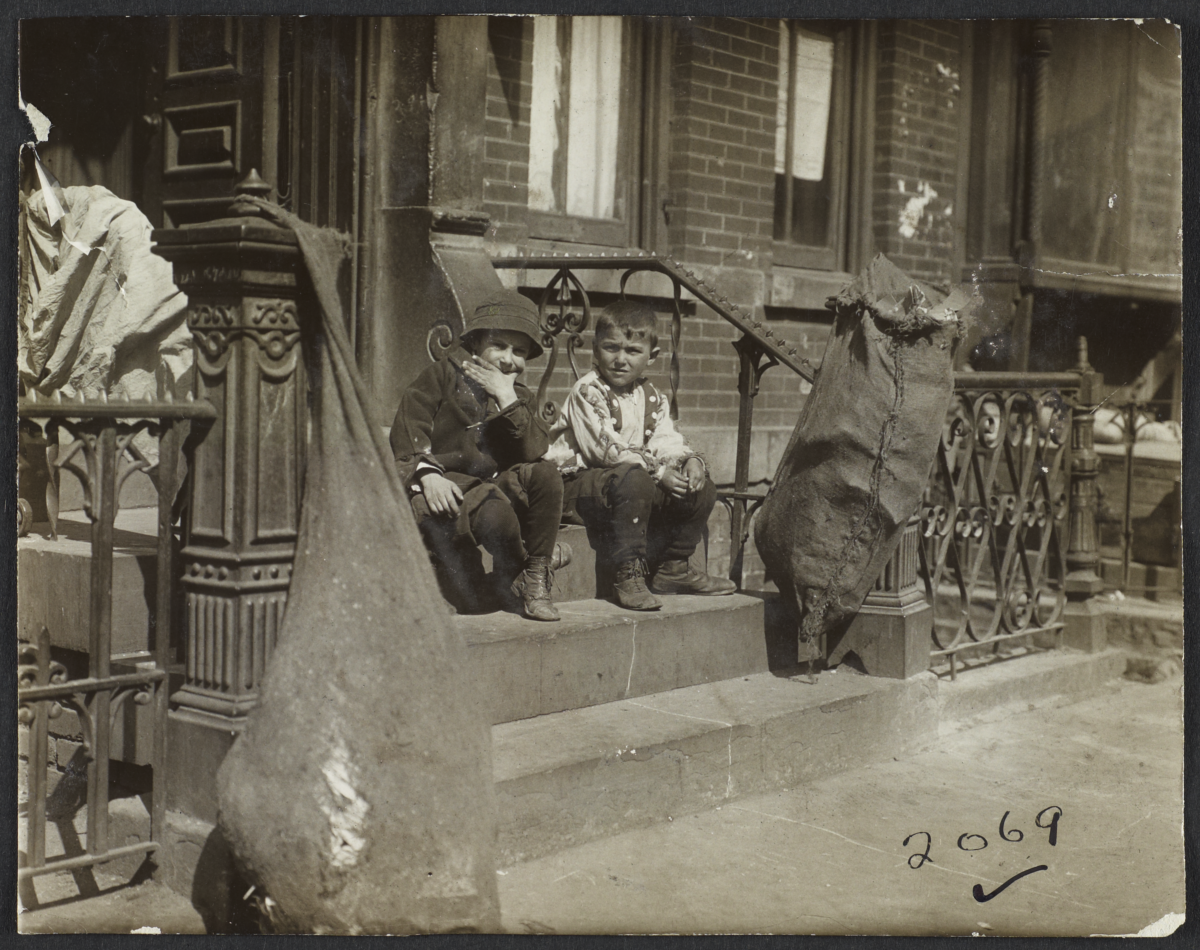 Two Boys on Stoop
