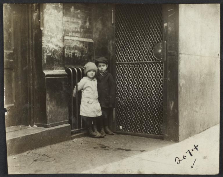 Two Children in Corner