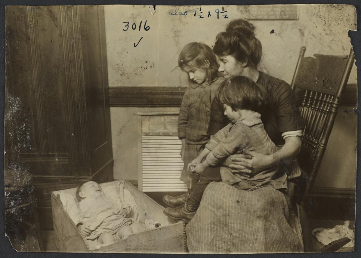 Woman with Children and Baby
