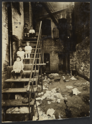 Children on Tenement Stairs