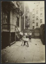 Children Between Tenement Buildings