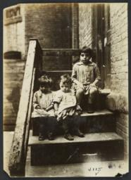 Three Children on Stairs