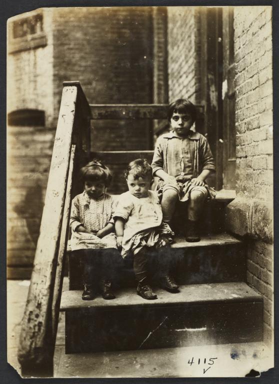 Three Children on Stairs
