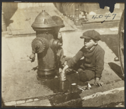 Two Children and Fire Hydrant
